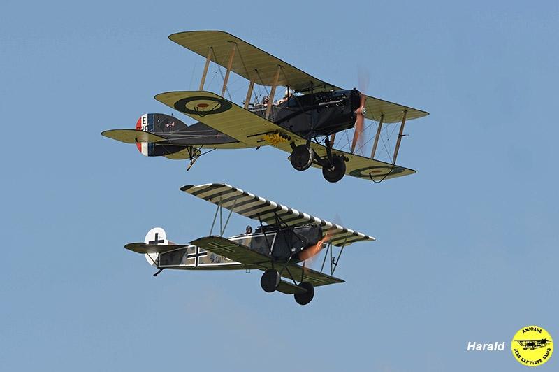 Bristol Fighter (Baptiste) et Fokker DVII (E. Salis)
