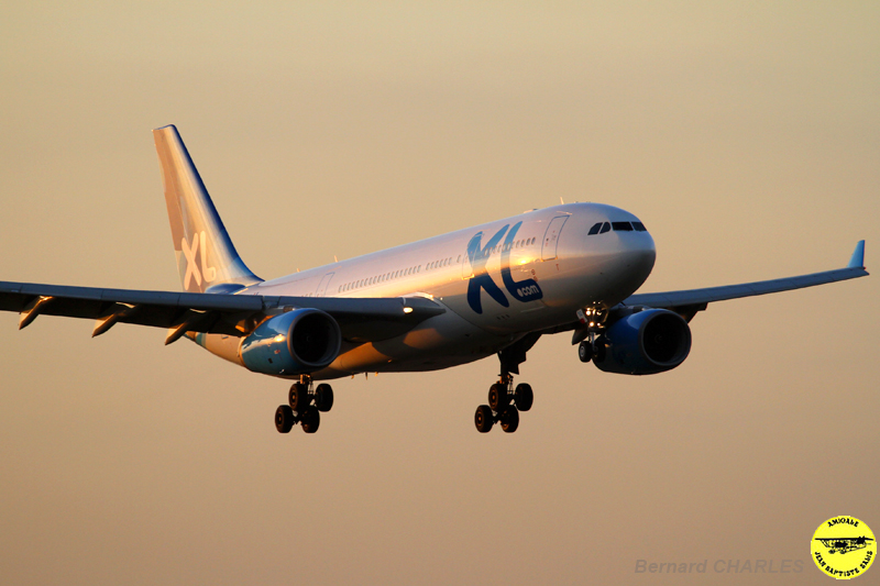 A330 XL Airways-sunset
