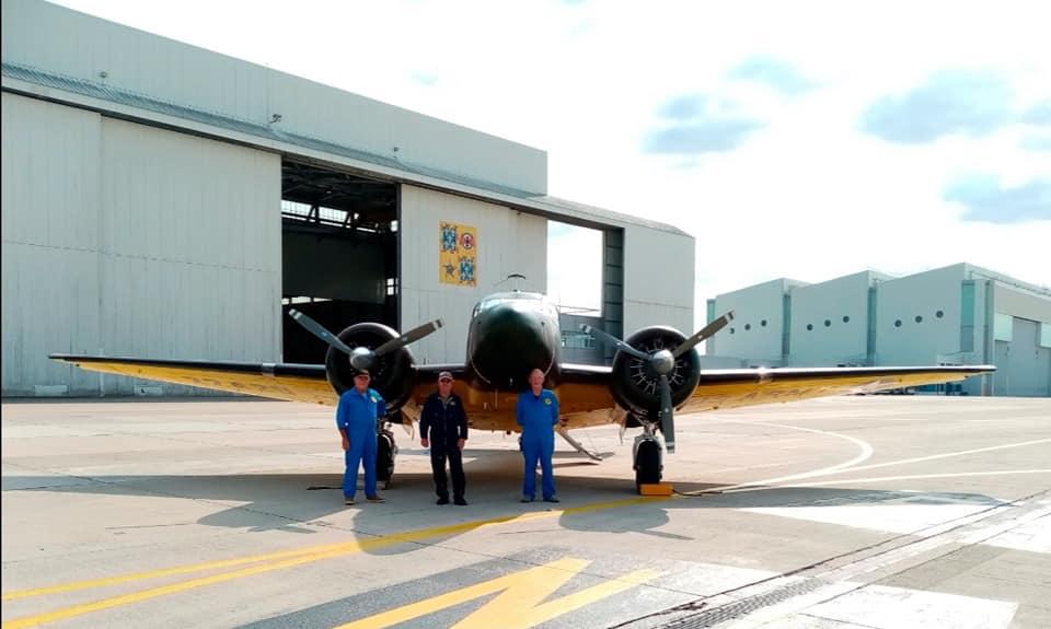 L'équipe du Beech 18 à la BA123 le 11/09/2020